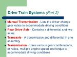drive train systems part 2
