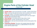engine parts of the cylinder head top end