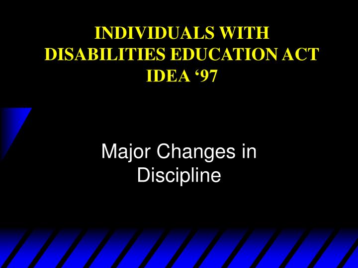 individuals with disabilities education act idea 97 n.