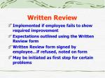 written review