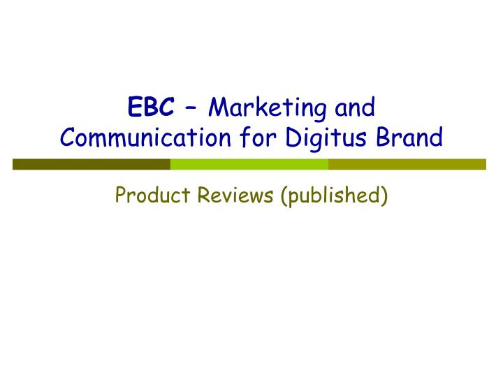 ebc marketing and communication for digitus brand n.