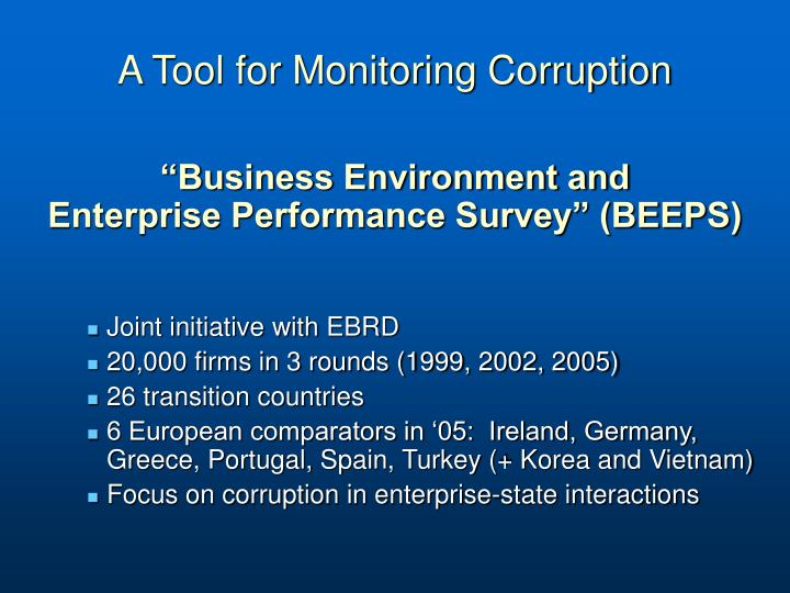A Tool for Monitoring Corruption