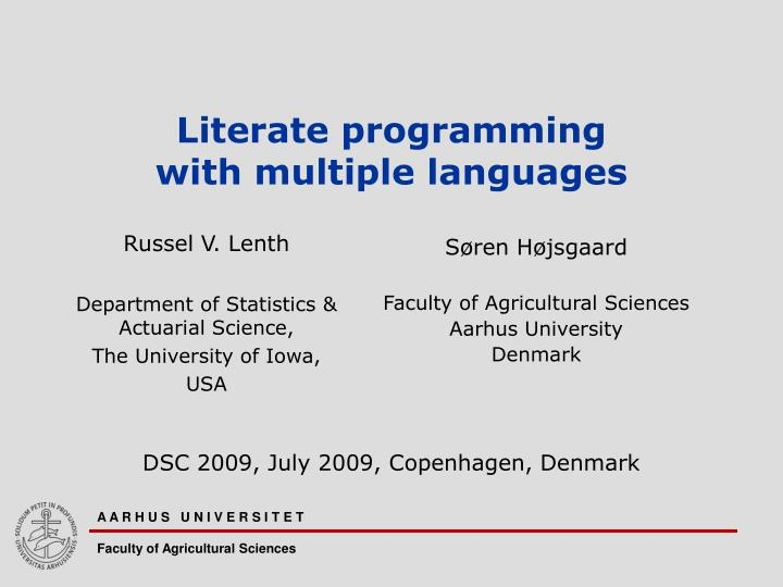 literate programming with multiple languages n.