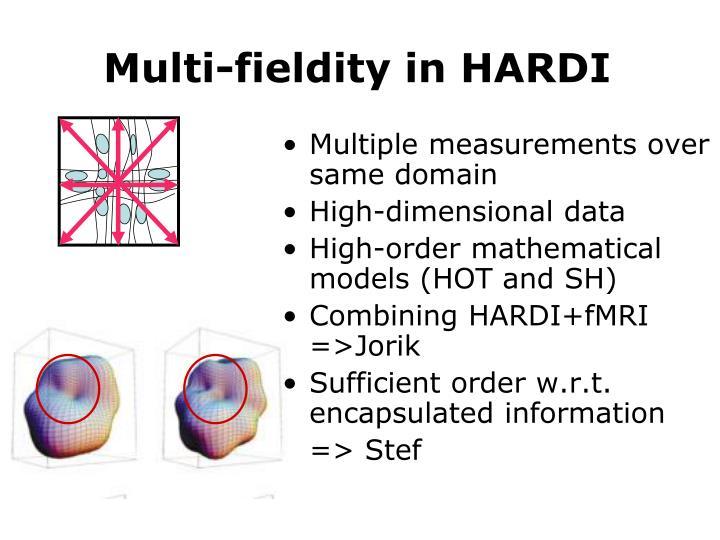 Multi-fieldity in HARDI