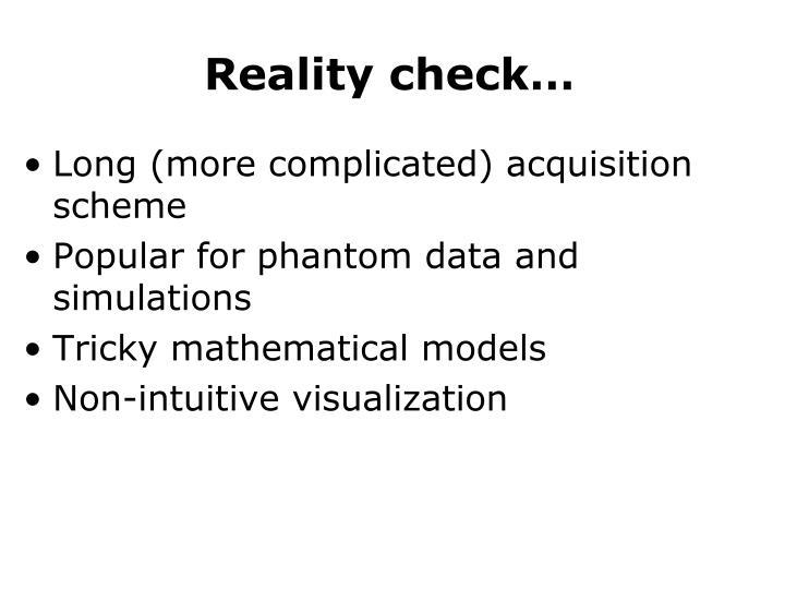 Reality check…