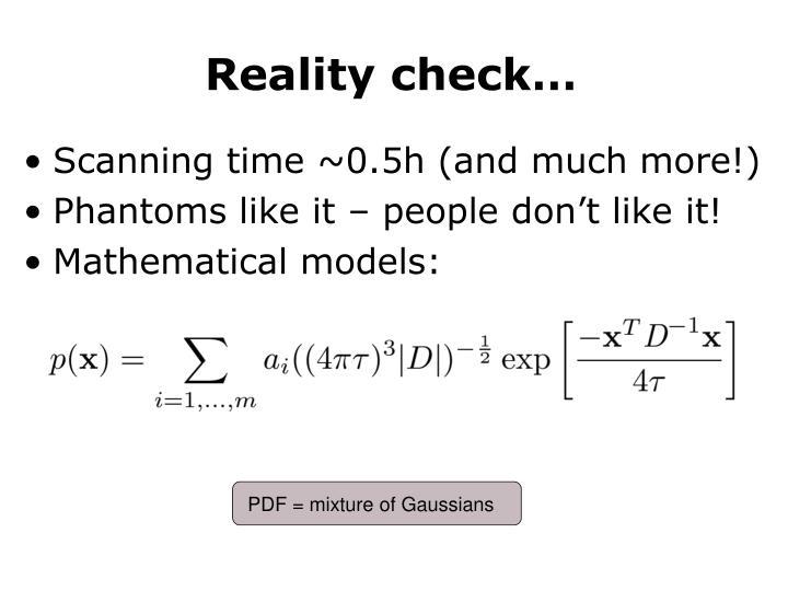 PDF = mixture of Gaussians