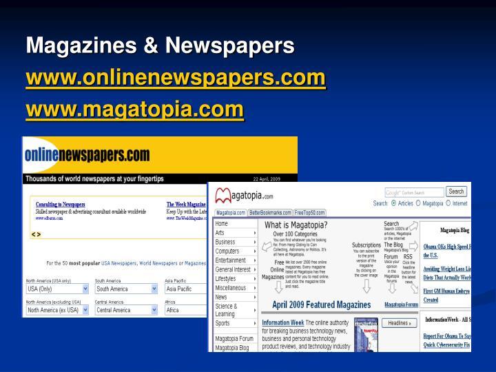 Magazines & Newspapers