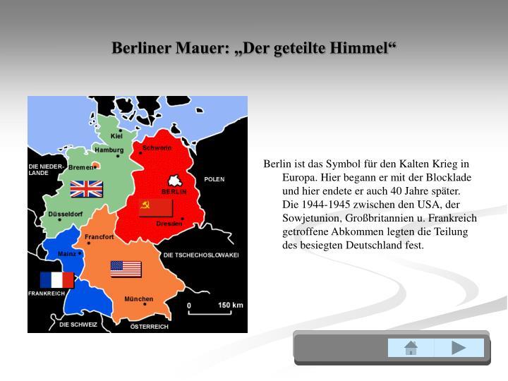 """Berliner Mauer: """"Der geteilte Himmel"""""""