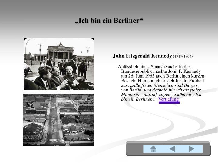 """""""Ich bin ein Berliner"""""""