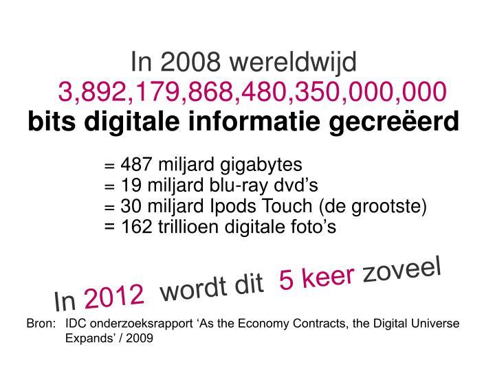 In 2008 wereldwijd