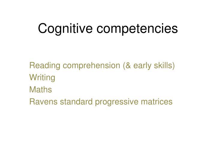 Cognitive competencies