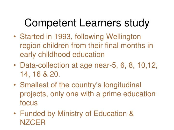 Competent Learners study