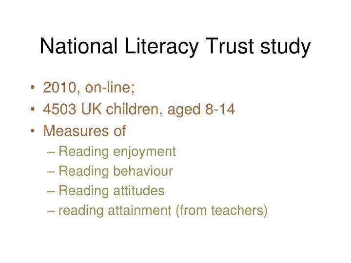 National Literacy Trust study