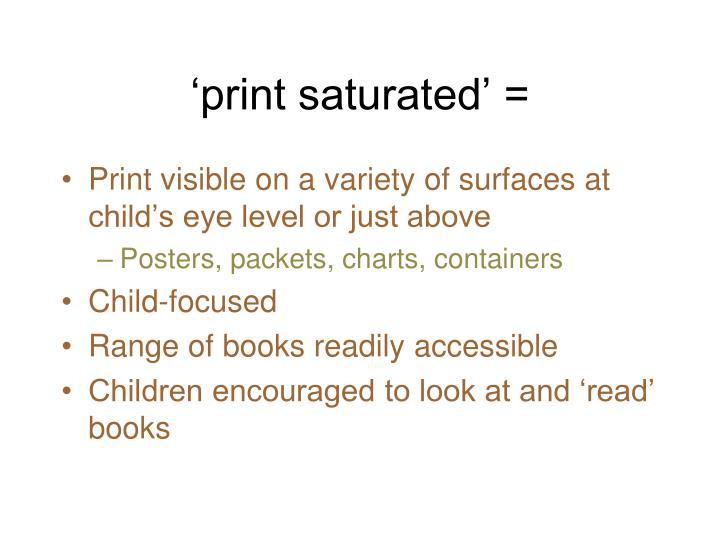 'print saturated' =