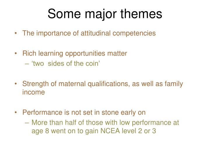 Some major themes