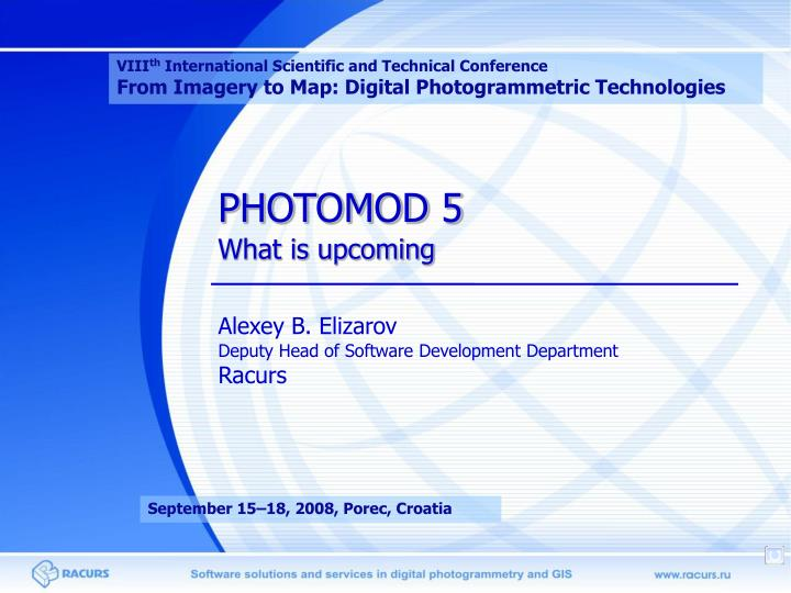 photomod 5 what is upcoming n.