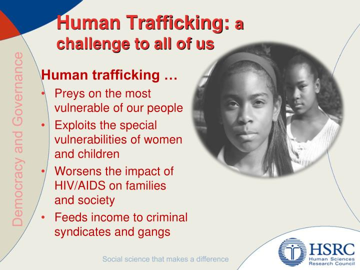 a discussion on the issue of human trafficking in america While you might think that human trafficking is an international problem, the 11 worst states for human trafficking in america would beg to differ human trafficking is the vilest of crimes what.