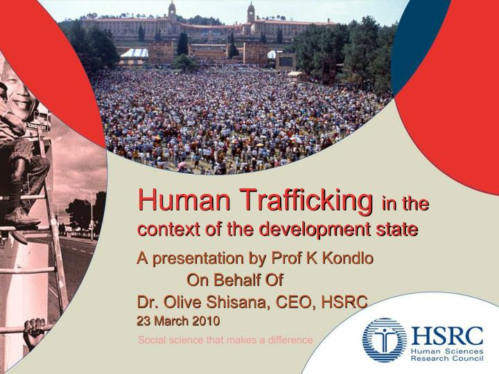 human trafficking in the context of the development state n.