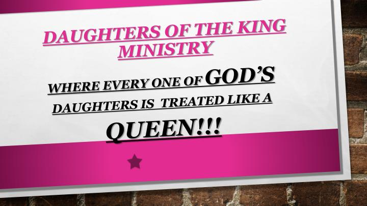 Daughters of the king ministry
