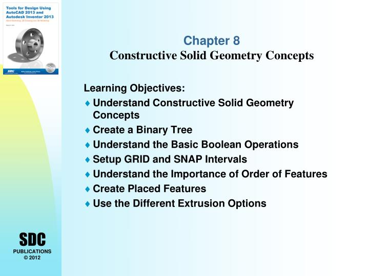 ppt chapter 8 constructive solid geometry concepts powerpoint