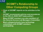 dcsmt s relationship to other computing groups