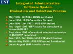 integrated administrative software system evaluation and selection process