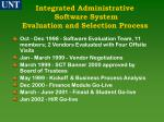 integrated administrative software system evaluation and selection process1