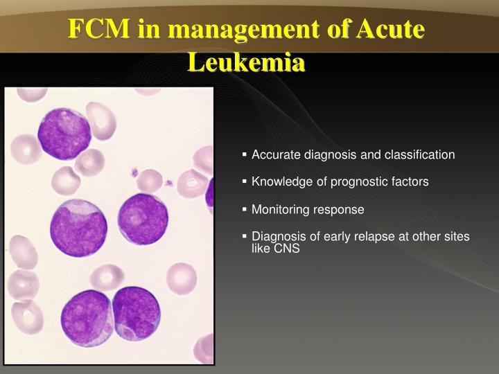 FCM in management of Acute Leukemia