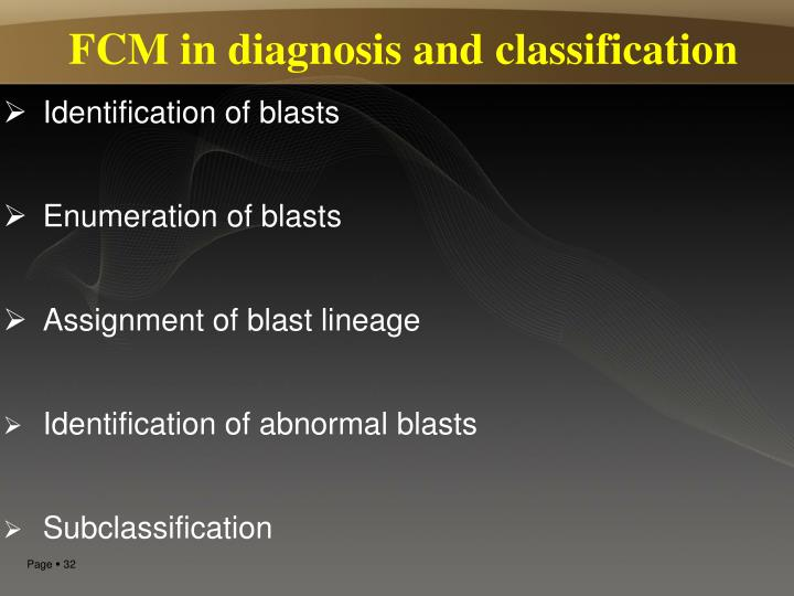 FCM in diagnosis and classification