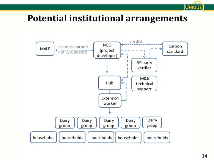 Potential institutional arrangements