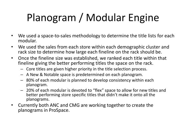 PPT - Planogram / Modular Engine PowerPoint Presentation