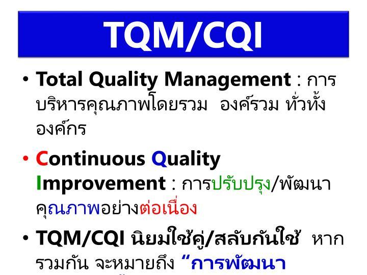 TQM/CQI