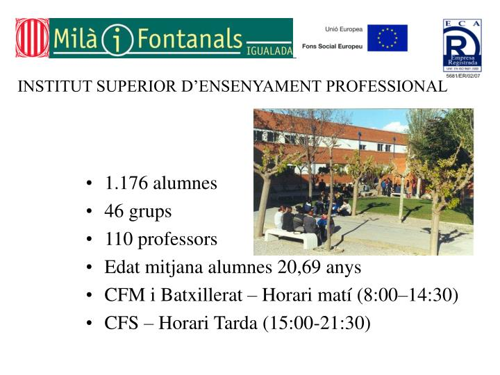 INSTITUT SUPERIOR D'ENSENYAMENT PROFESSIONAL