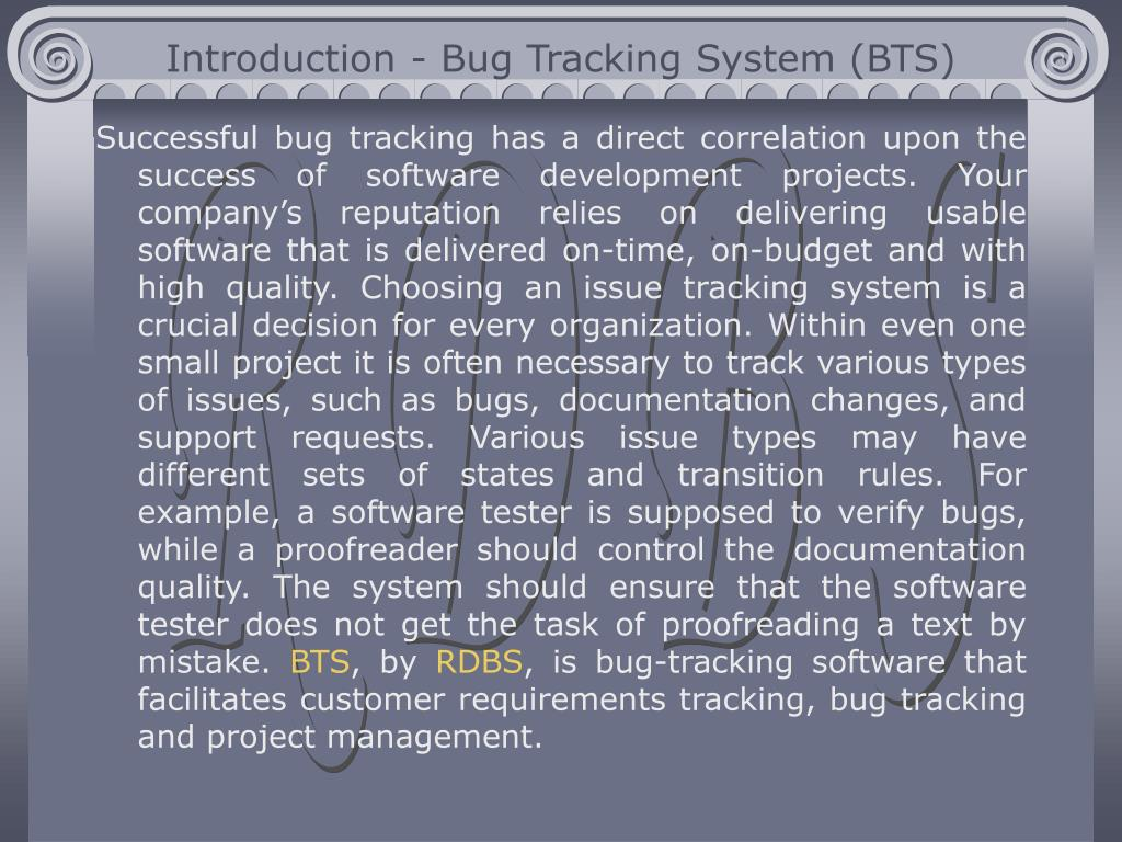 PPT - Bug Tracking System BTS PowerPoint Presentation - ID:4879079