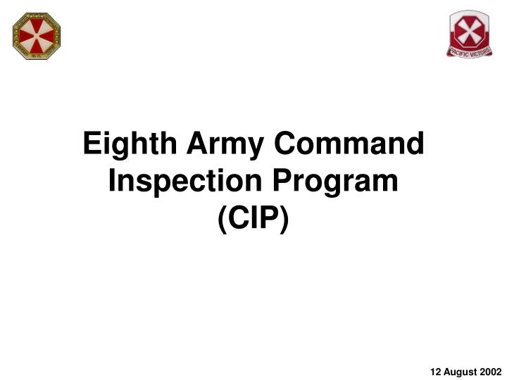 eighth army command inspection program cip n.