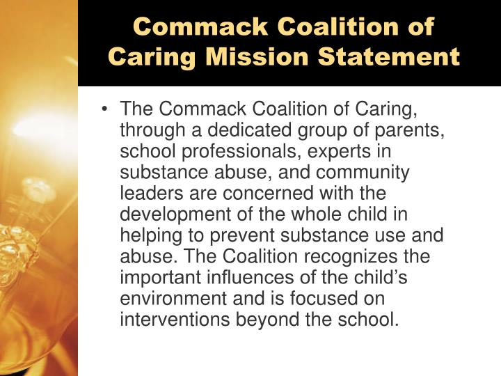 Commack Coalition of Caring Mission Statement