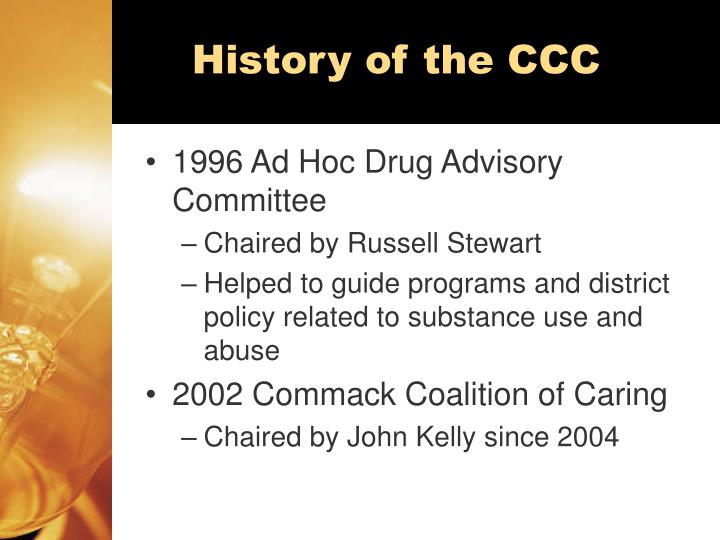 History of the ccc
