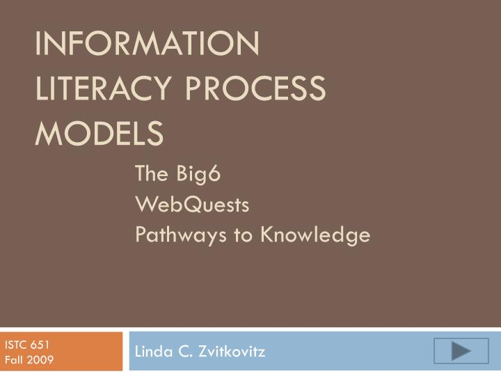 information literacy process models the big6 webquests pathways to knowledge