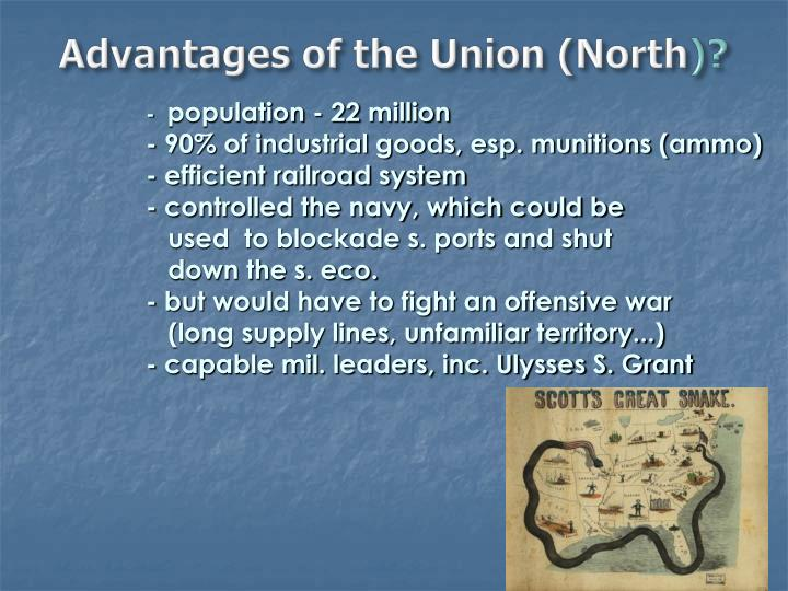 Advantages of the Union (North