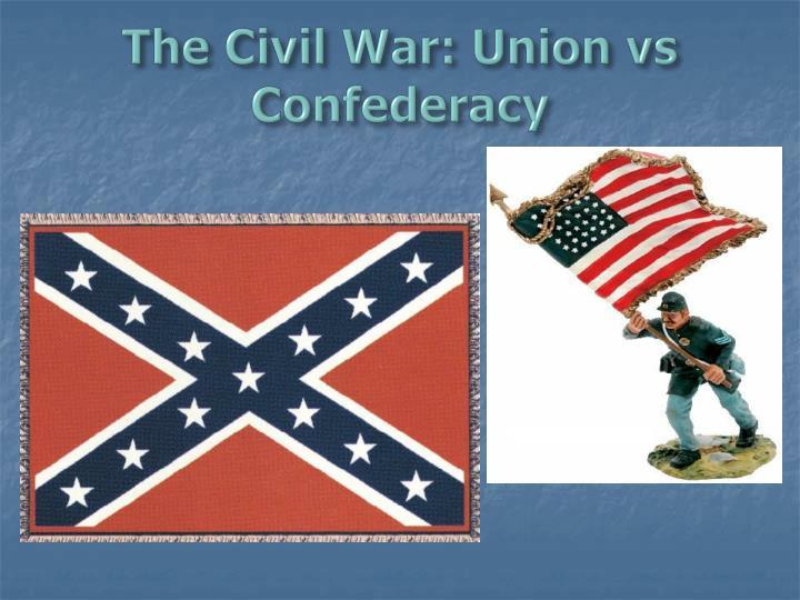 The civil war union vs confederacy