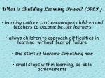 what is building learning power blp