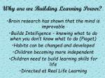 why are we building learning power