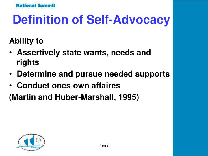 Definition of Self-Advocacy
