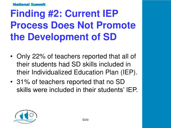 Finding #2: Current IEP
