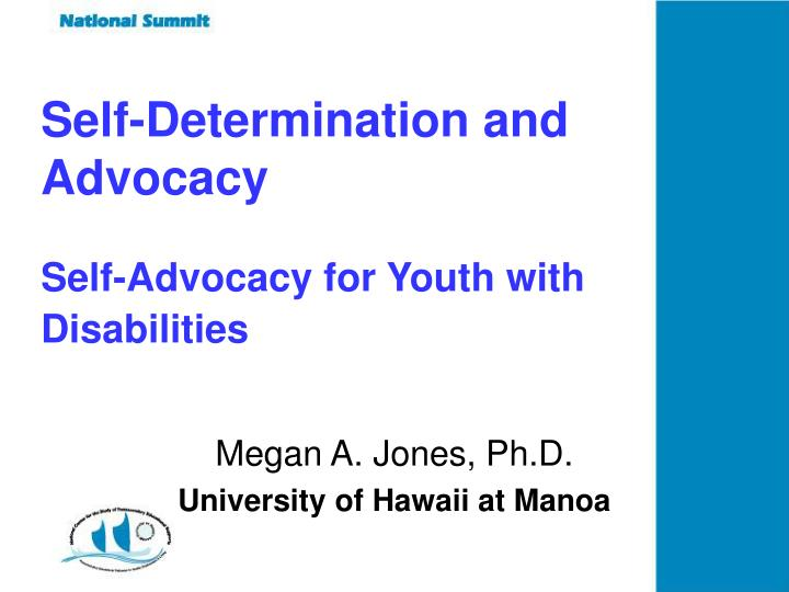 Self-Determination and Advocacy