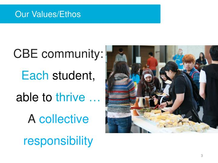 Our values ethos