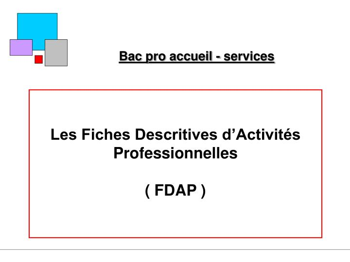 bac pro accueil services n.