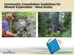 community consultation guidelines for mineral exploration nova scotia