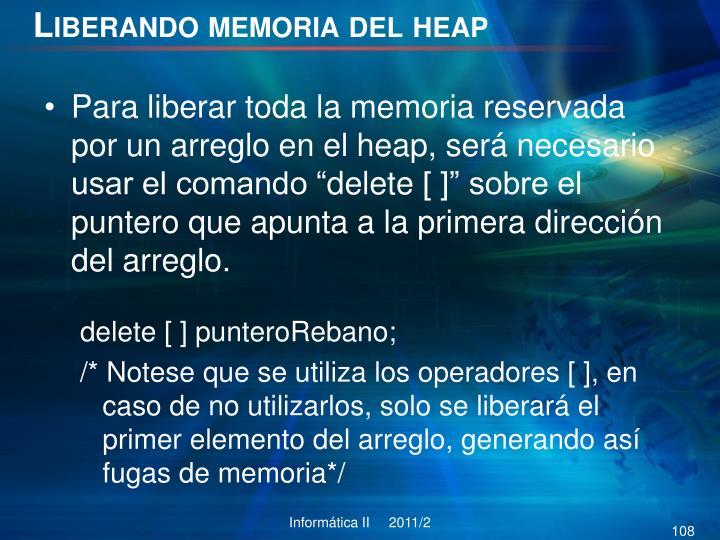 Liberando memoria del
