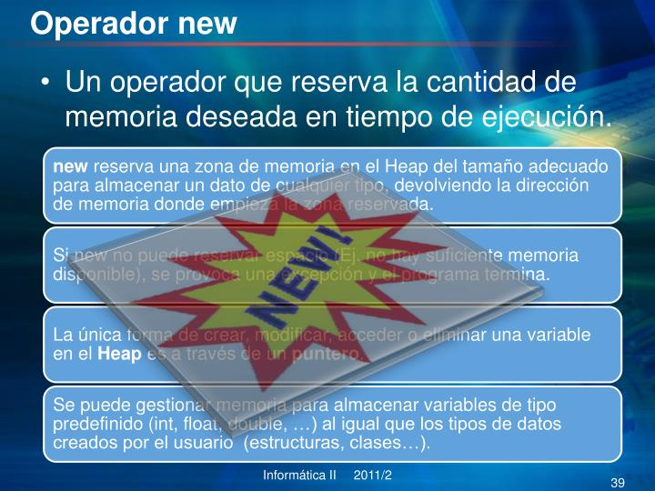 Operador new